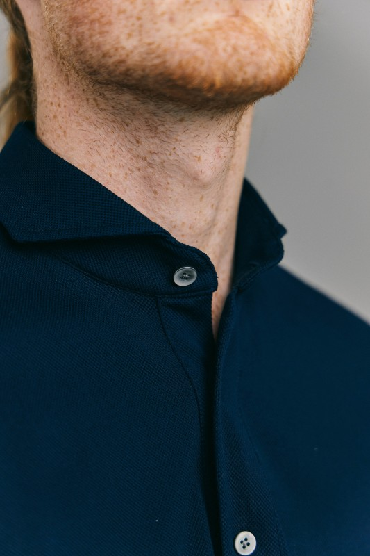 Navy Piqué Polo Shirt